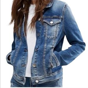 CALVIN KLEIN Denim Jean Jacket Dark Blue Wash Med